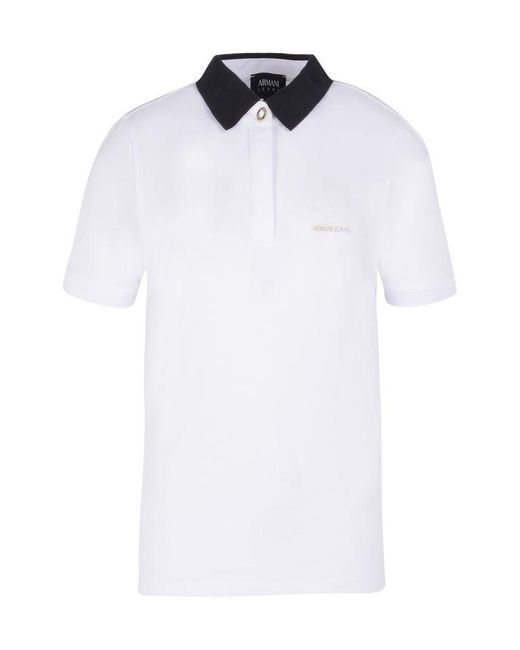 Armani Jeans | White Short-sleeved Polo | Lyst