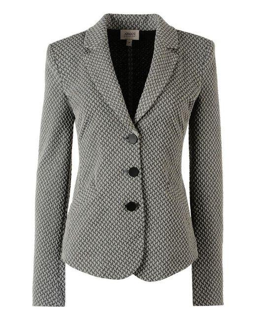 Armani | Gray Three Button Jacket | Lyst