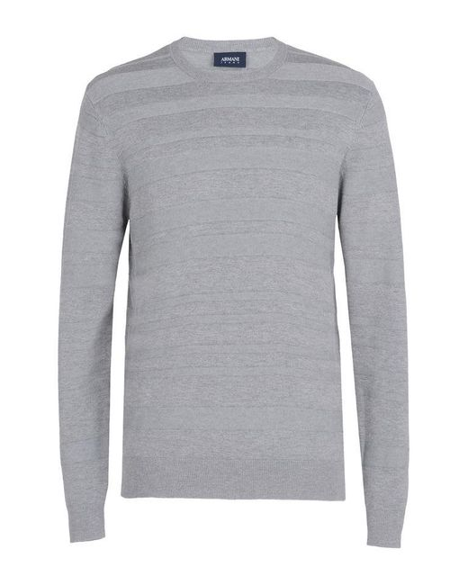 Armani Jeans | Gray Crewneck Sweater for Men | Lyst