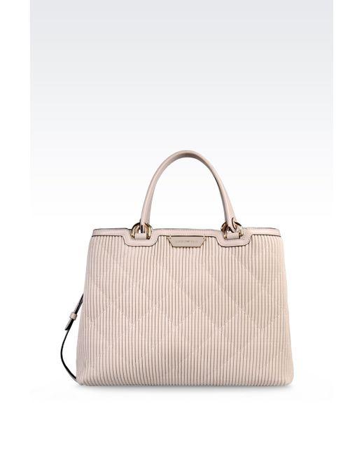 Emporio Armani | Natural Tote Bag With Detachable Shoulder Strap | Lyst