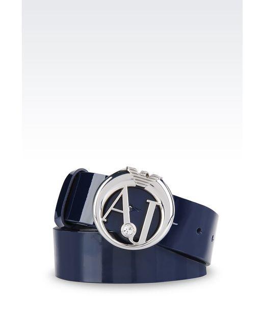 Armani Jeans | Metallic Leather Belt | Lyst
