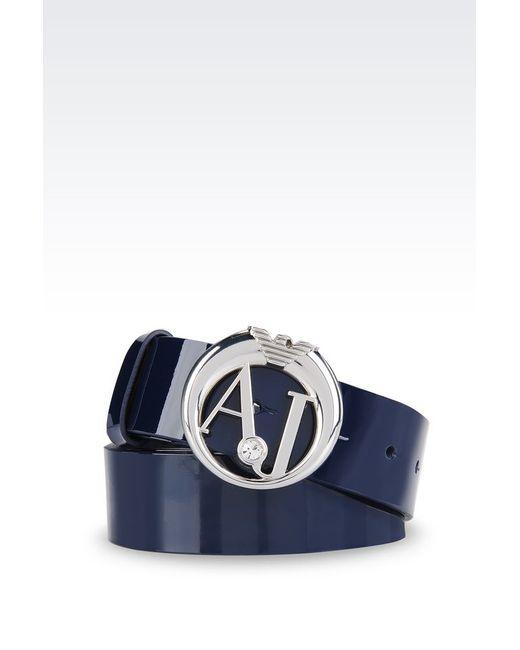 Armani Jeans | Blue Leather Belt | Lyst