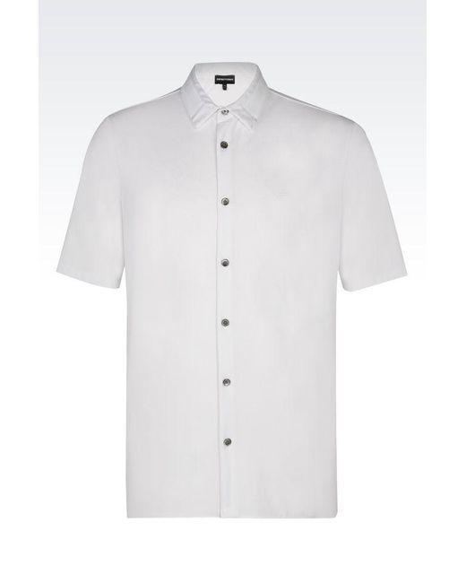 Emporio Armani | White Short-sleeved Polo Shirt for Men | Lyst