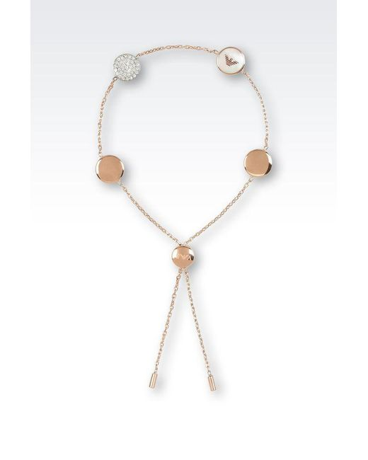 Emporio Armani | Pink Bracelet | Lyst