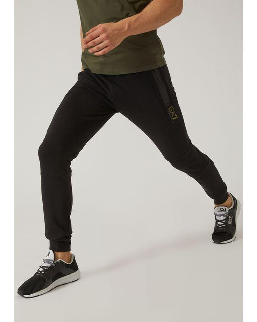 Emporio Armani - Black Sweatpants for Men - Lyst