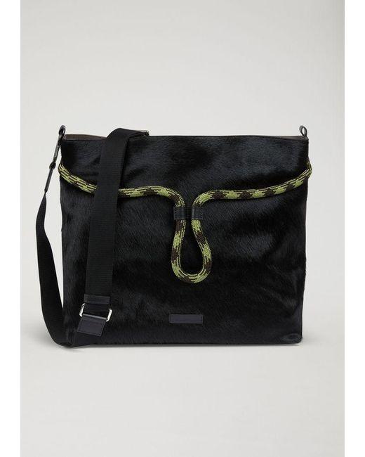 d43a8d8b8c19 Emporio Armani - Black Hobo Bag for Men - Lyst ...