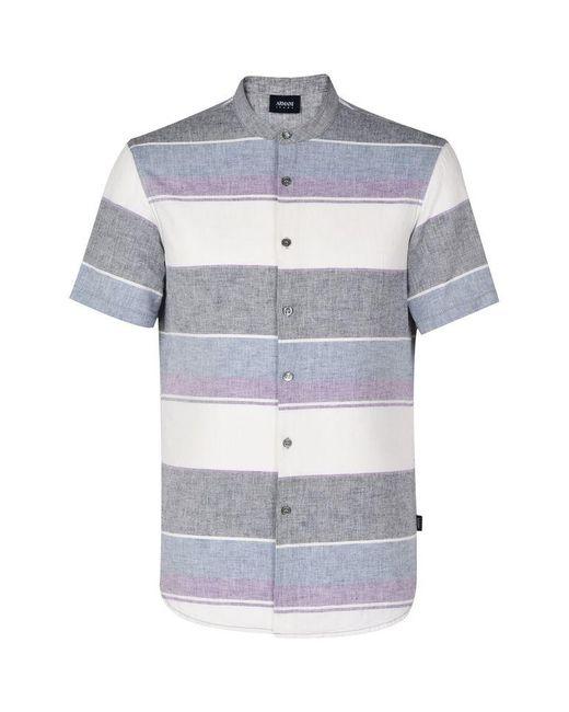 Armani Jeans | Purple Short Sleeve Shirt for Men | Lyst