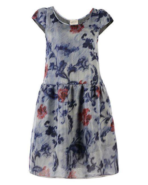 Armani   Blue Short Dress   Lyst