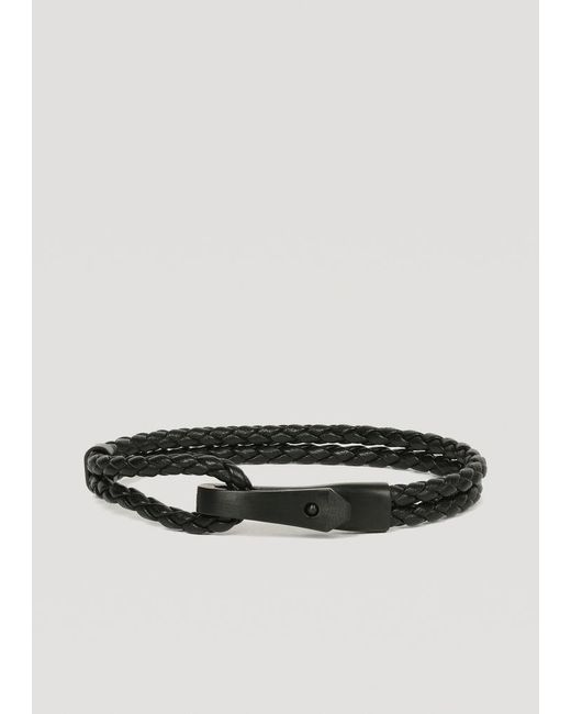 Emporio Armani - Black Bracelet for Men - Lyst