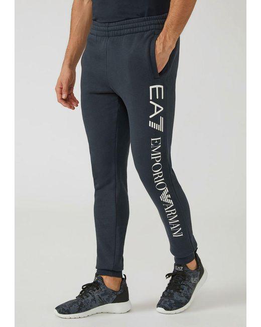 Emporio Armani - Blue Sweatpants for Men - Lyst