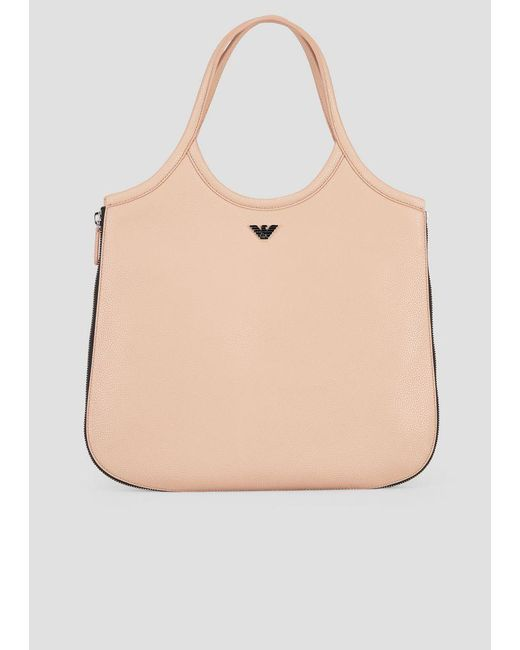 Emporio Armani - Natural Shoulder Bag - Lyst ... a03502feda