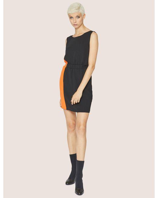 Armani Exchange - Black Colorblocked Elastic-waist Sheath - Lyst