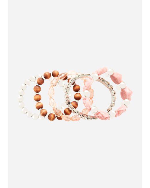 Ashley Stewart - Multicolor Plus Size Rosette Bauble Silver Bracelet - Lyst