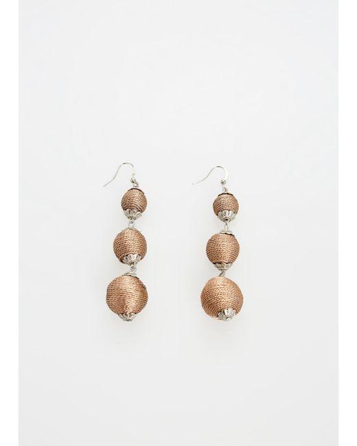 Ashley Stewart - Metallic Plus Size Thread Wrapped Drop Earrings - Lyst