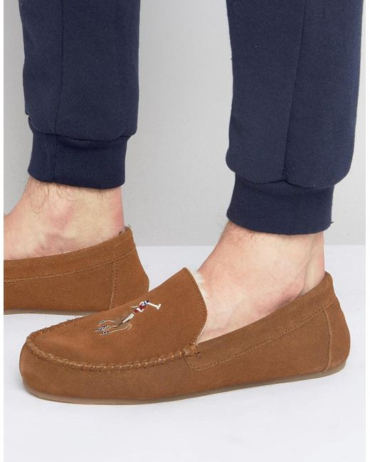 Ralph Lauren - Brown Markel Moccasin Slippers for Men - Lyst