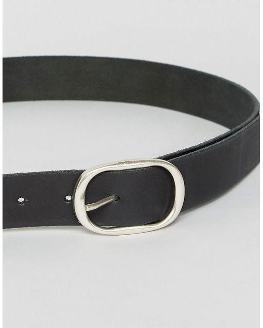 Retro Luxe Plain Leather Extra Long Jeans Belt - Black Retro Luxe London qFoASxE