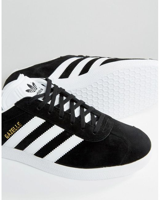adidas originals gazelle trainers in black