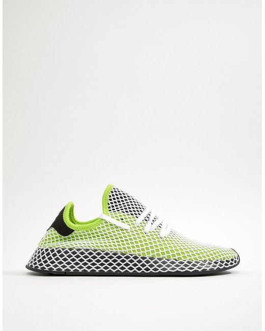 Adidas Originals Deerupt Formateurs Coureur Dans B27779 Vert - Vert vAGpLM