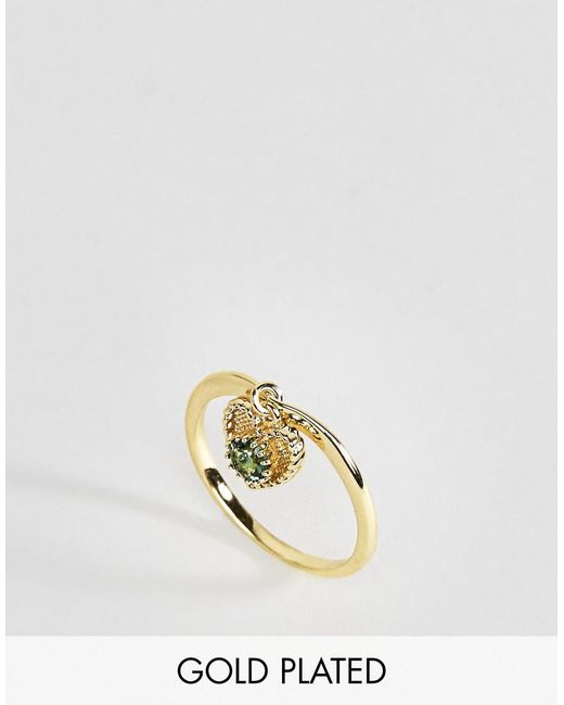 Rock N Rose | Metallic Rock N Rose May Semi Precious Emerald Birthstone Ring | Lyst