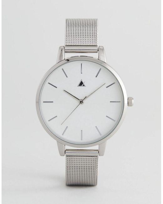 ASOS - Metallic Tonal Silver Mesh Watch - Lyst
