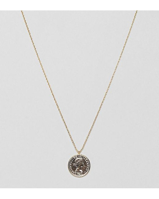 Estella Bartlett - Metallic Gold Plated Coin Necklace - Lyst