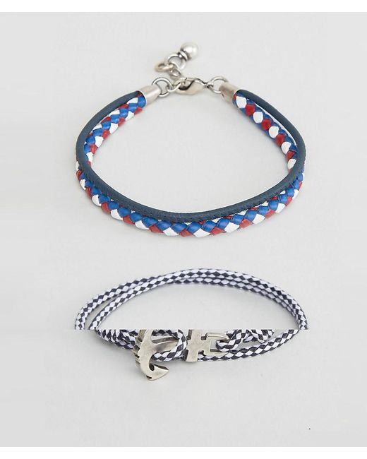 ASOS | Blue Nautical Bracelet Set In Navy | Lyst