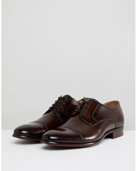 ALDO Galerrange Derby Leather Shoes In Brown free shipping with credit card UZNGKSDS9