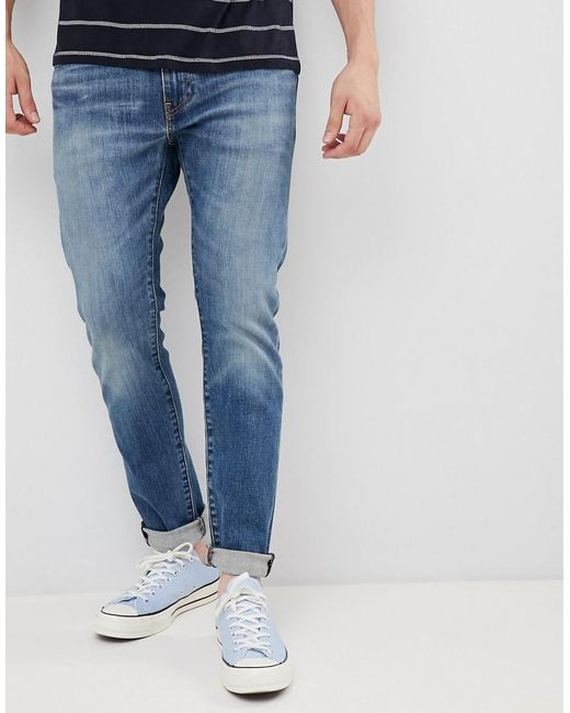 c108109b0b1 Levi's - Blue 512 Slim Tapered Low Rise Jeans In Zonkey Light Wash for Men  ...