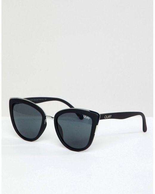 Quay My Girl Cat Eye Sunglasses In Black for men