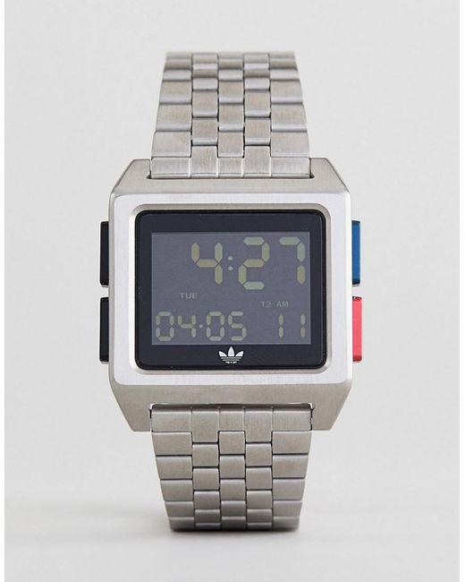17d961094b3a Adidas - Multicolor Reloj digital de pulsera en plateado Z01 Archive de for  Men - Lyst ...