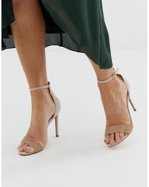 346fa5cf1b7 ... ALDO - Pink Heeled Leather Sandals - Lyst
