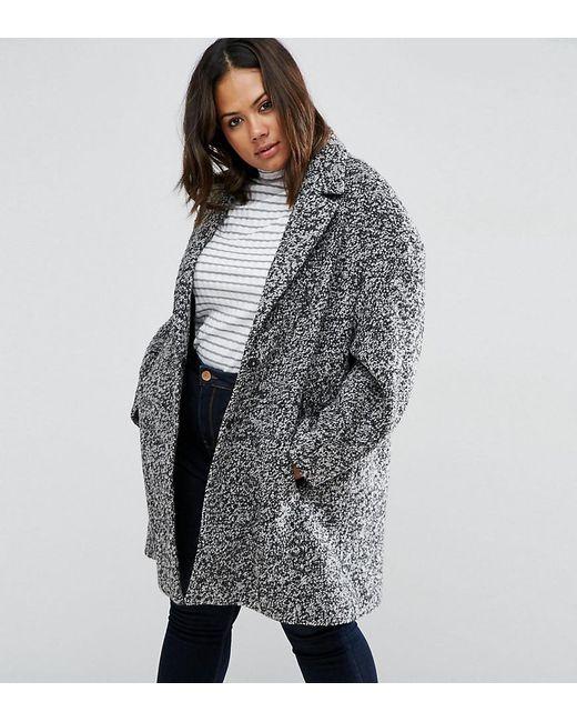 ASOS | Black Coat In Cocoon Texture | Lyst