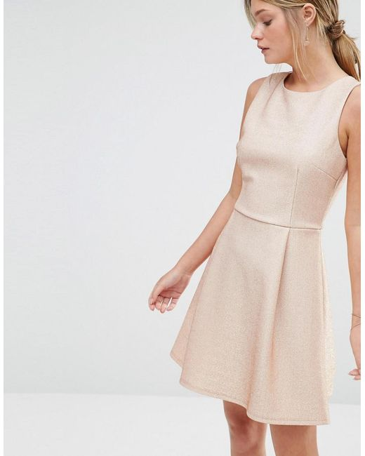 Metallic Skater Dress - Pink Oasis Py8qQhr