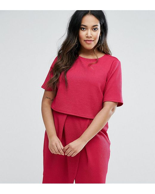 ASOS - Pink Double Layer Textured Mini Wiggle Dress - Lyst