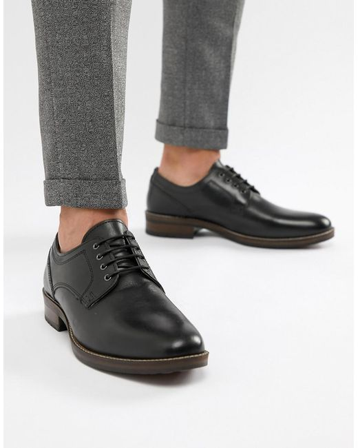 Red Tape - Elcot Lace Up Brogue Shoes In Black for Men - Lyst