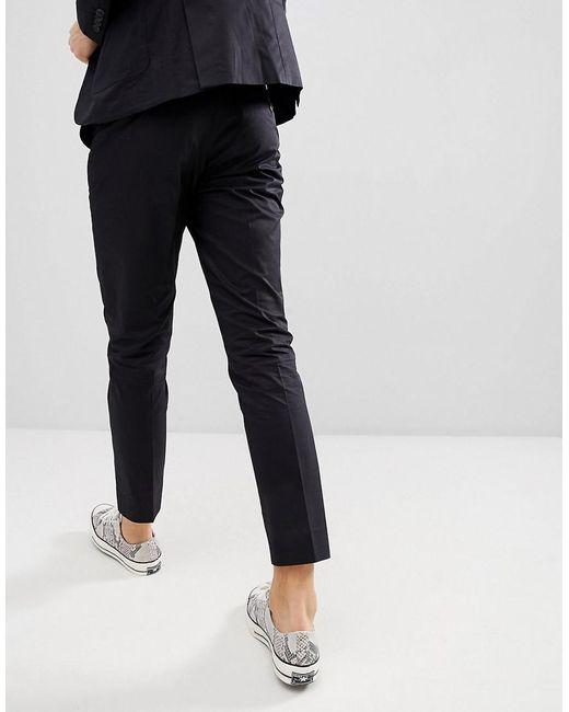 Pantalon De Costume Dans L'anti Ajustement - Noir Sélectionné eEkBAXH6