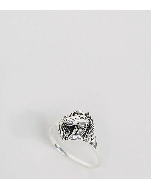 ASOS | Metallic Sterling Silver Horse Ring | Lyst