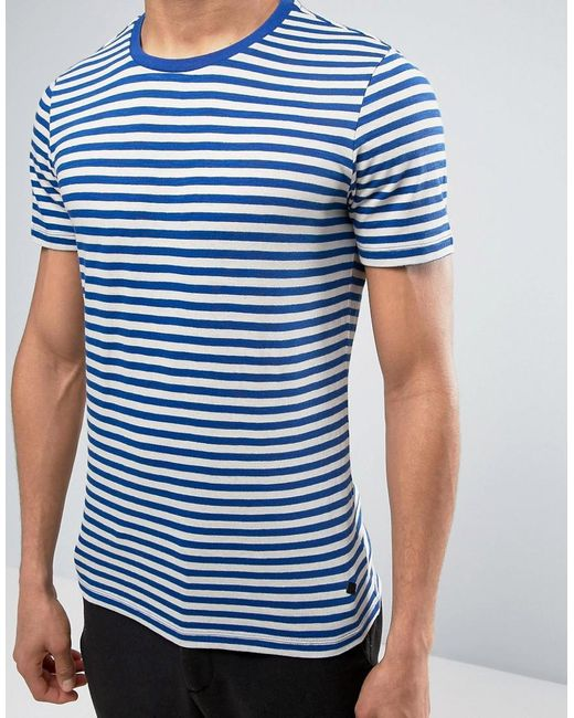 Casual Friday Striped T Shirt In White For Men Lyst