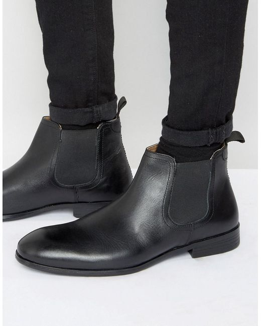 Red Tape - Chelsea Boots In Black Leather for Men - Lyst