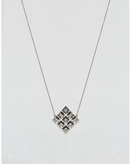 House of Harlow 1960 | Metallic Geo Pendant Necklace | Lyst