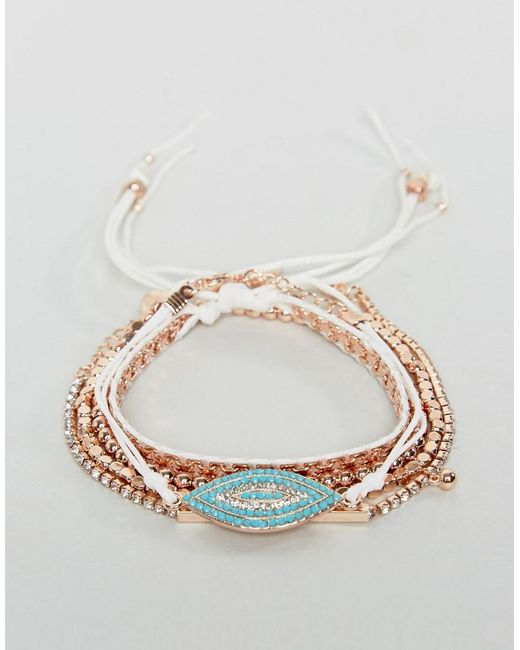 ALDO | Metallic Rose Gold Stacking Bracelets | Lyst