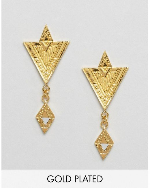 Gorjana   Metallic Gold Plated Shae Drop Earrings   Lyst
