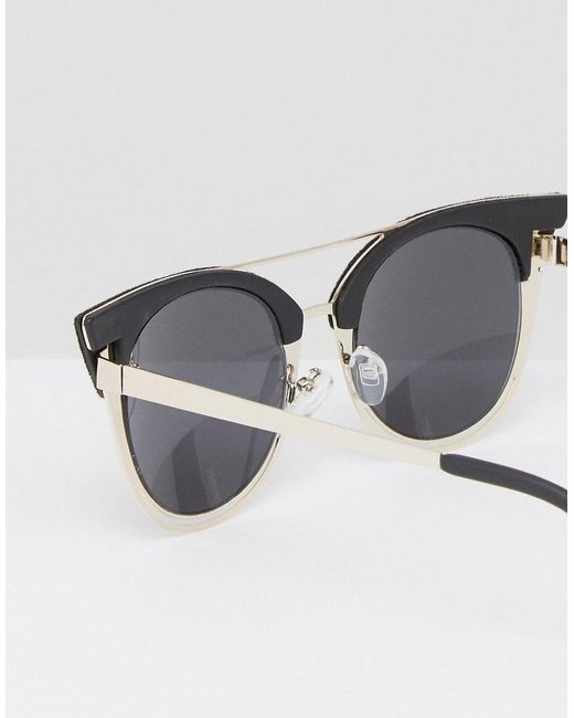 Skinnydip London Cat Eye Sunglasses With Black Velvet In