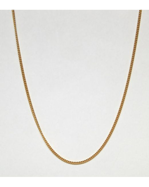 ASOS - Metallic Short Sterling Silver Necklace In Gold Plate for Men - Lyst