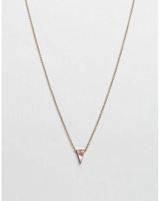 Icon Brand | Metallic Triangle Pendant Necklace In Antique Gold for Men | Lyst