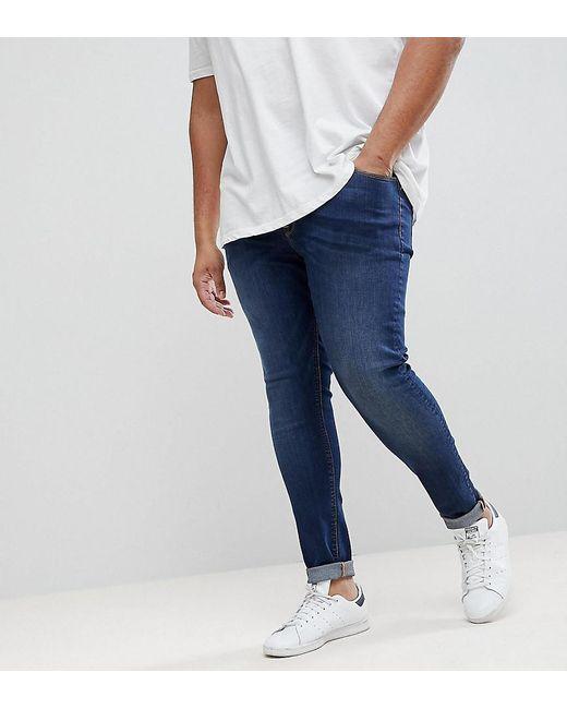 ff62b2912e6 ASOS - Blue Plus Extreme Super Skinny Jeans In Dark Wash for Men - Lyst ...