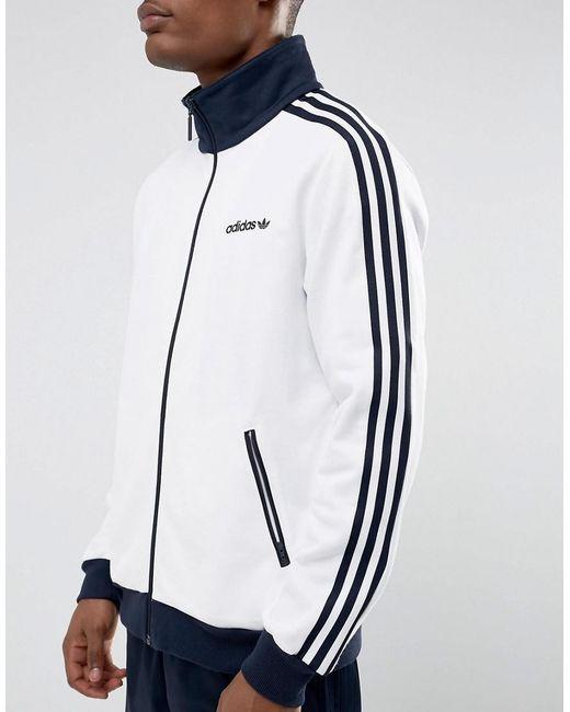 adidas originals beckenbauer track jacket in white br4222. Black Bedroom Furniture Sets. Home Design Ideas