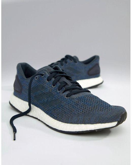 on sale cb4ca 26620 Adidas - Blue Running Pureboost Dpr In Navy Bb6293 for Men - Lyst ...