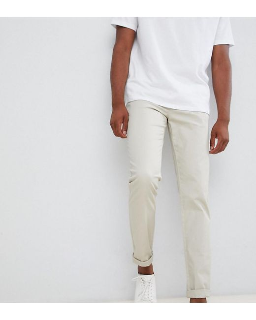 a21c95d1cad8c0 ASOS - Natural Tall Slim Chinos In Beige for Men - Lyst ...