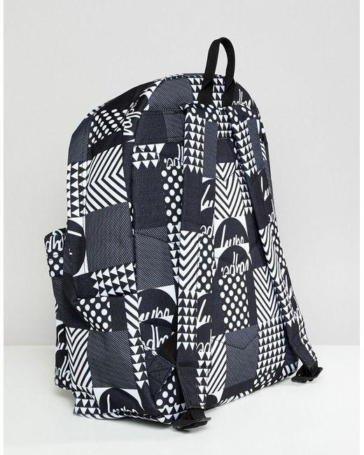 ... Hype - Black Backpack In Monochrome Geo Print for Men - Lyst 6c494716e6ba8